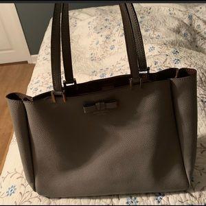 Gray Kate spade purse